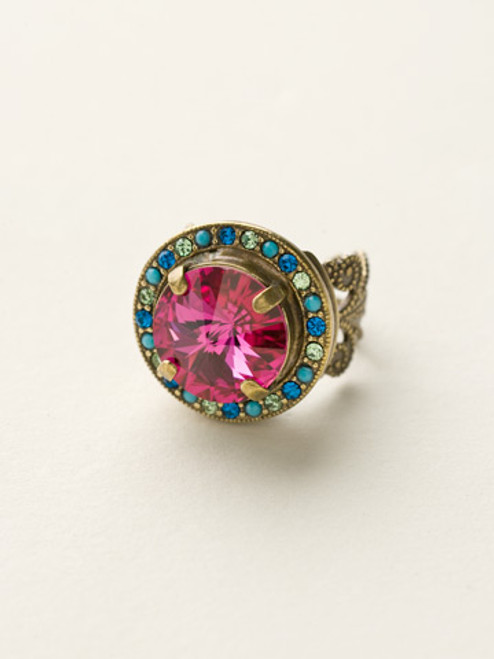 Sorrelli Southwest Brights- Bold Bauble Ring~ RCM5AGSWB