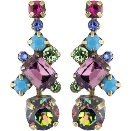 Sorrelli Southwest Brights- Glittering Multi-Cut Crystal Earrings~ ECF6AGSWB