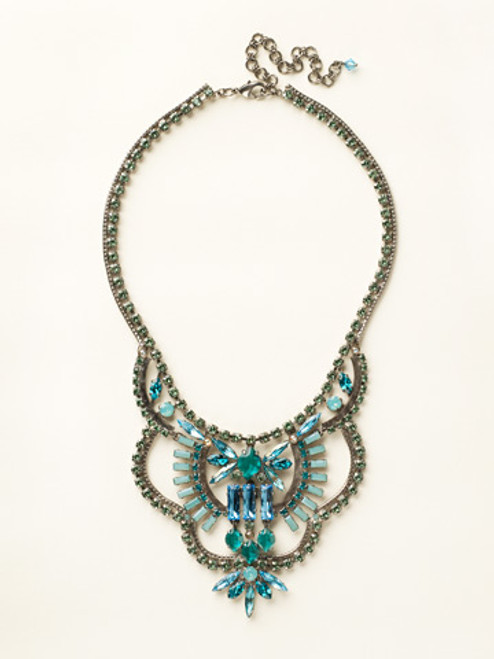 Sorrelli Sea Glass Crystal Necklace - NCY16ASSGL