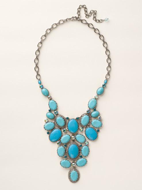 Sorrelli Sea Glass Crystal Necklace~NCU1ASSGL