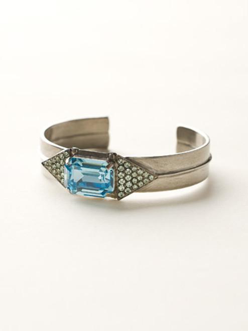 Sorrelli Sea Glass- Twin Triangle Cuff Bracelet~ BCW16ASSGL