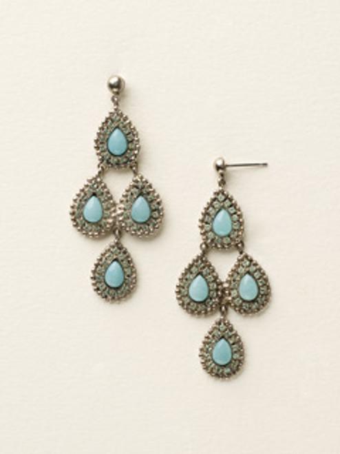 Sorrelli Sea Glass- Pear-ing Up Statement Earrings~ ECY42ASSGL