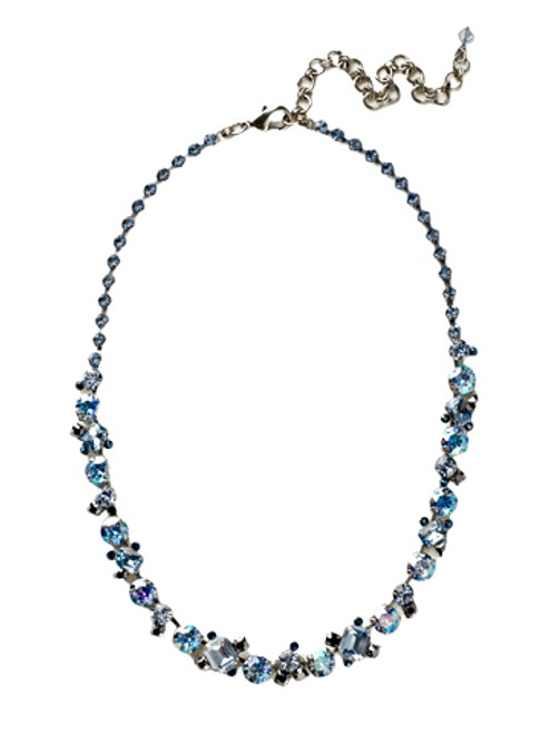 Sorrelli Ice Blue- Glittering Multi-Cut Crystal Necklace~ NCF6ASIB