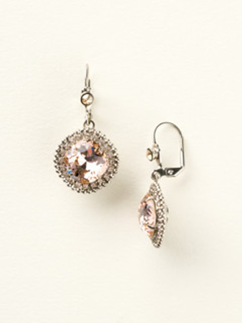 Silver Blush Crystal Earrings