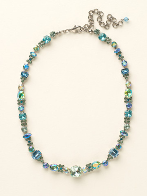 Sorrelli Sea Glass Crystal Necklace ncd2assgl