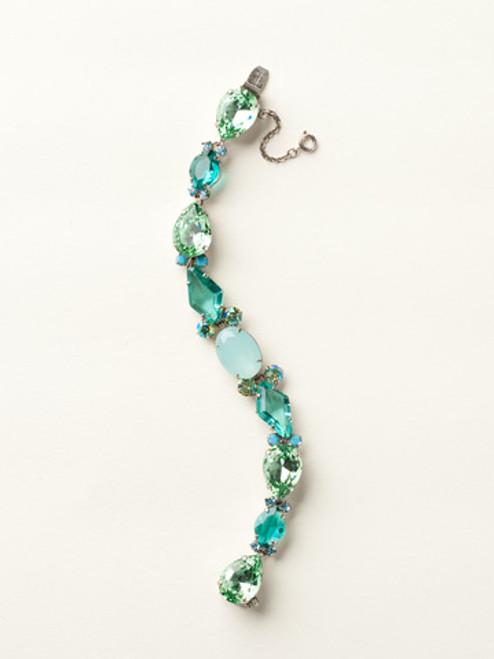 Sorrelli Sea Glass- Large Multi-Cut Crystal Line Bracelet~ BCY10ASSGL