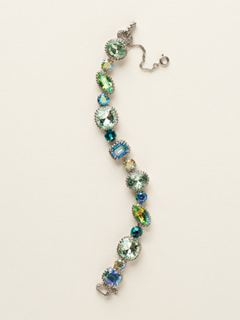 Sorrelli Sea Glass- Cushion Cut Crystal Bracelet~ BBX10ASSGL