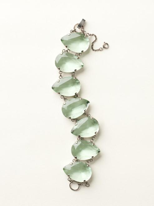 Sorrelli Sea Glass- Large Crystal Pear Line Bracelet~ BCY12ASSGL