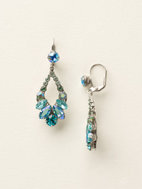 Sorrelli Sea Glass Crystal Earrings ECQ29ASSGL