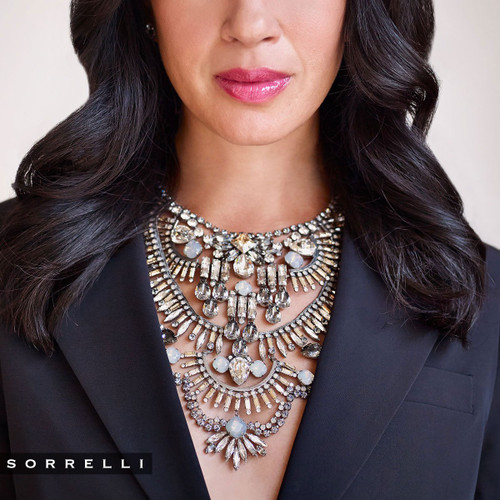 Sorrelli Golden Shadow Crystal Necklace-NSP81ASGNS