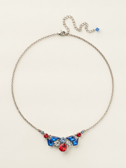 Sorrelli Stars and Stripes Crystal Necklace