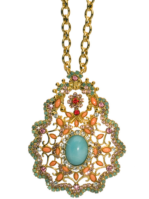 CORAL REEF CRYSTAL NECKLACE BY Sorrelli NCR64BGCOR