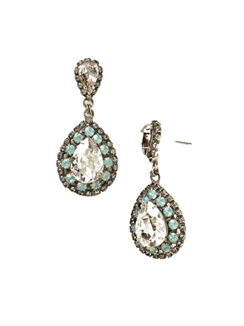 CRYSTAL MOSS OVAL ENCRUSTED CRYSTAL DANGLE EARRINGS BY SORRELLI=ECW47ASCRM