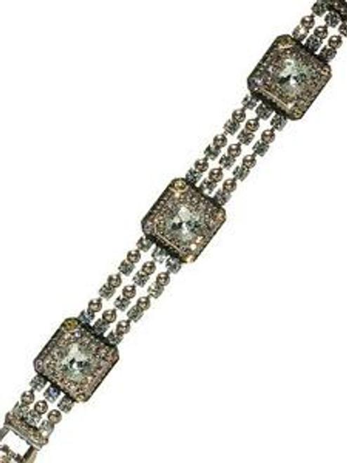 Sorrelli Running Water Crystal Bracelet BCG10ASRW