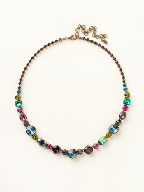 SUPER MULTI CRYSTAL NECKLACE BY SORRELLI NCP38AGSPM