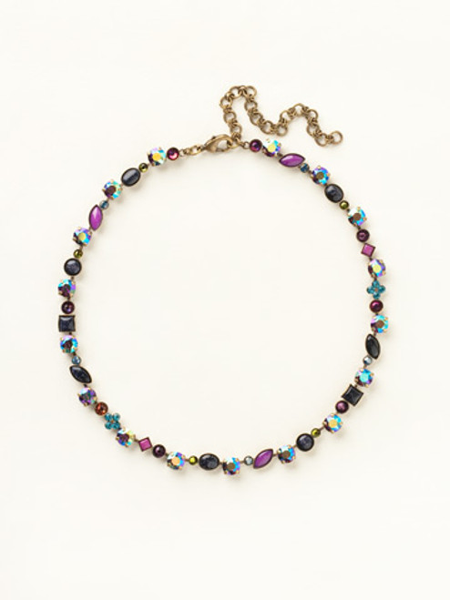 SUPER MULTI CRYSTAL NECKLACE BY SORRELLI NAQ3AGSPM