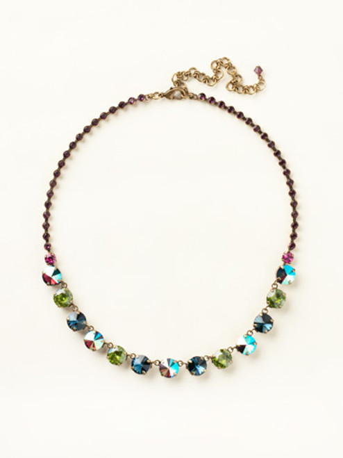 SUPER MULTI CRYSTAL NECKLACE BY SORRELLI NCU19AGSPM