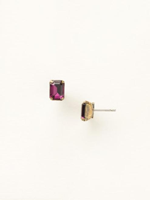 Gold Multi Crystal Earrings