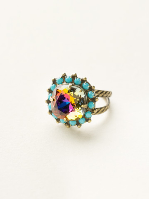 Sorrelli Southwest Brights- Cushion Cocktail Ring~ RCR112AGSWB