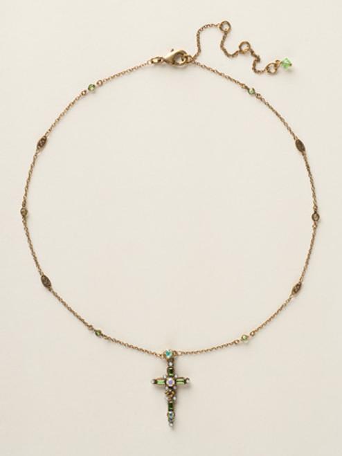 Sorrelli Green Apple Crystal Necklace NCK22AGGA