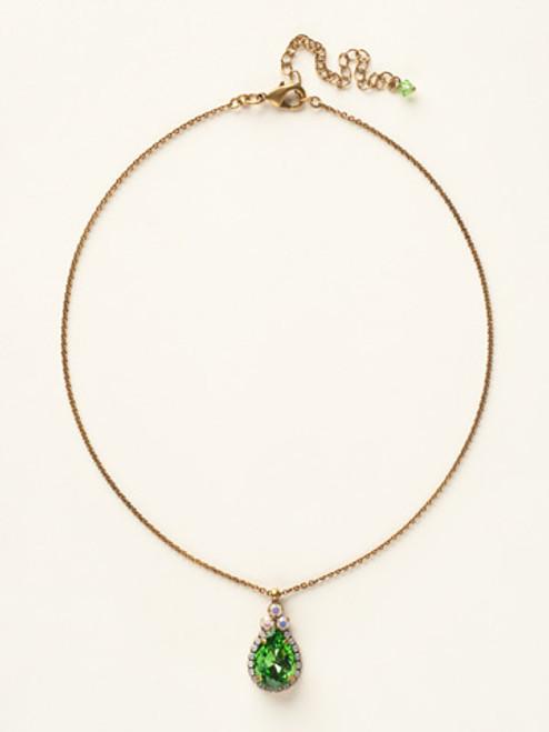 Sorrelli Green Apple Crystal Necklace NCM19AGGA