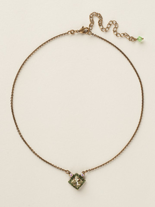 Sorrelli Green Apple Crystal Necklace