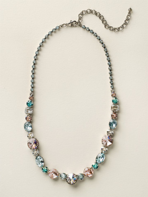 Sorrelli Sky Blue Peach Crystal Necklace NCP38ASSKY