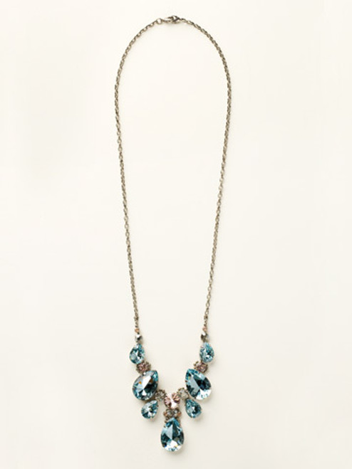 Sorrelli Sky Blue Peach Necklace ncr77assky