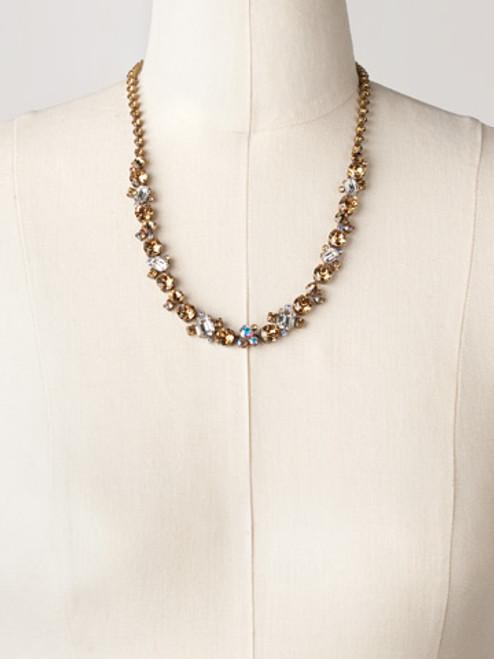 Sorrelli AMARETTO- Glittering Multi-Cut Crystal Necklace~ NCF6AGAMA