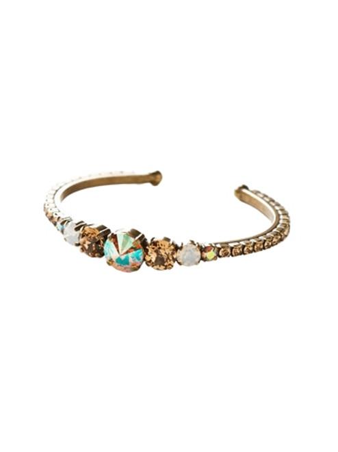 Sorrelli AMARETTO- Dazzling Dotted Line Cuff Bracelet~ BCQ14AGAMA