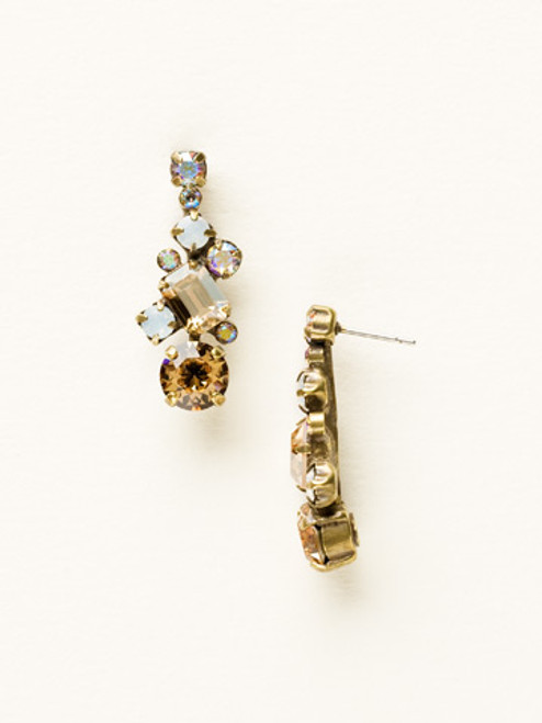 Sorrelli AMARETTO- Glittering Multi-Cut Crystal Earrings~ ECF6AGAMA