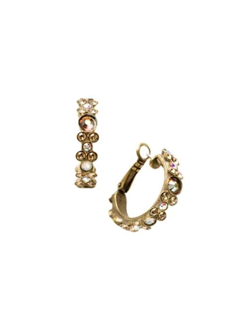 Sorrelli Amaretto- Floral Hoop Earrings~ EBP15AGAMA