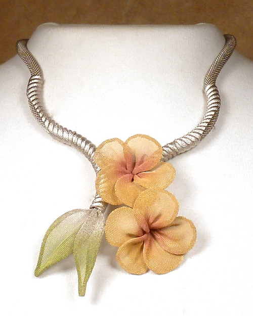 Sarah Cavender Silver with Maize Floral Necklace