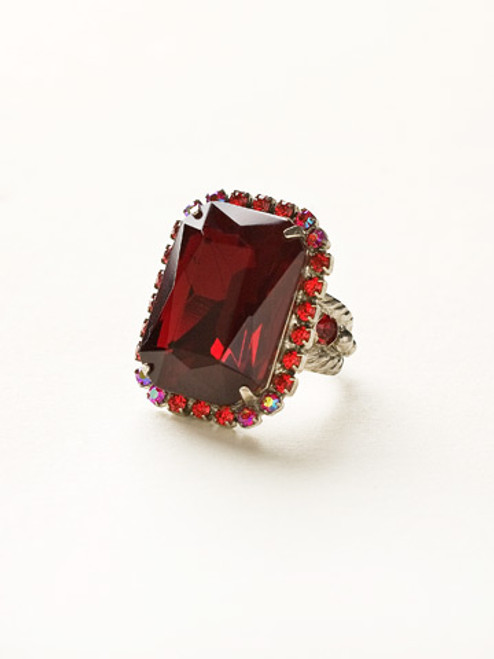 *Special Order*  Cranberry Crystal Ring by Sorrelli~RBT69ASCB