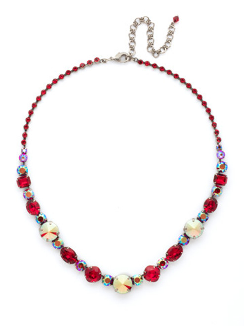 **SPECIAL ORDER**Cranberry Crystal Necklace by Sorrelli~NCP38ASCB