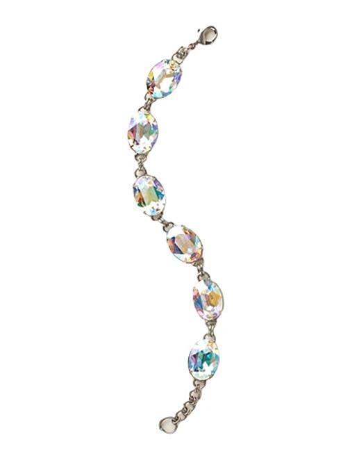 Sorrelli Crystal Aurora Borealis- Large Oval Crystal Classic Bracelet~ BCY58ASCAB