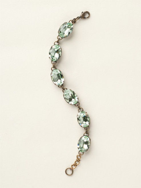 Soft Silhouettes Crystal Bracelet by Sorrelli BCY58AGMIN