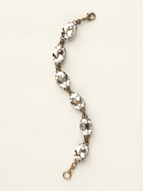 Soft Silhouettes Crystal Bracelet by Sorrelli BCY58AGSSH