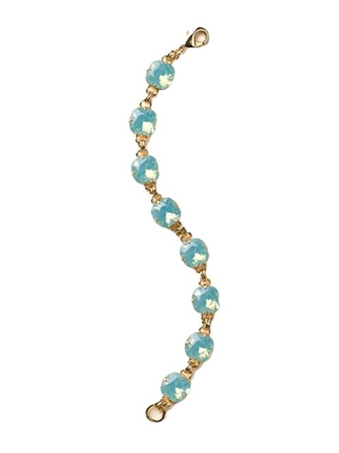 Pacific Opal-Soft Silhouettes ~ Medium Cushion Cut Crystal Bracelet by Sorrelli~ BCY57BGPAC
