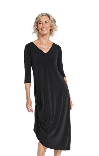 Sympli Reversible Drama Dress-2864-Black