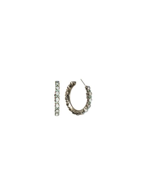 Sorrelli Aegean Sea- Stone Studded Hoop Earrings~ ECL2ASAES
