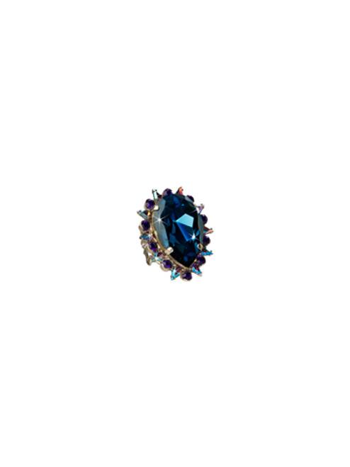 Sorrelli Northern Lights- Teardrop Crystal Cocktail Ring~ RCR13ASNL