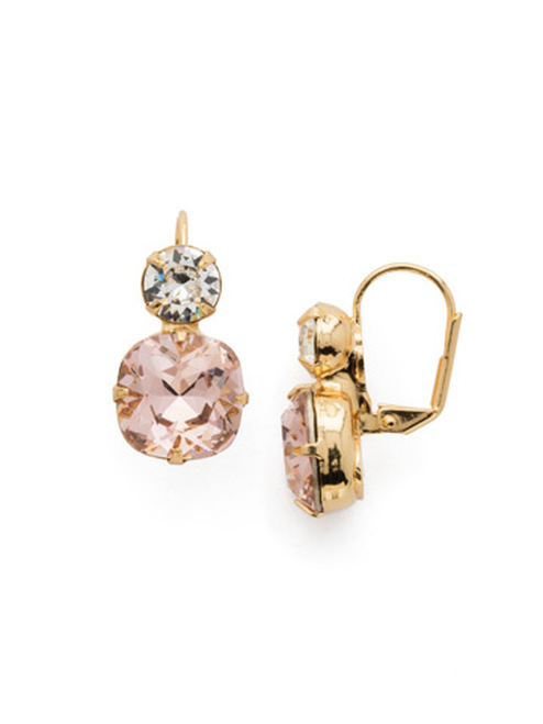 Sorrelli Vintage Rose On The Edge  Crystal Dangle Earrings~ECL4BGVIN