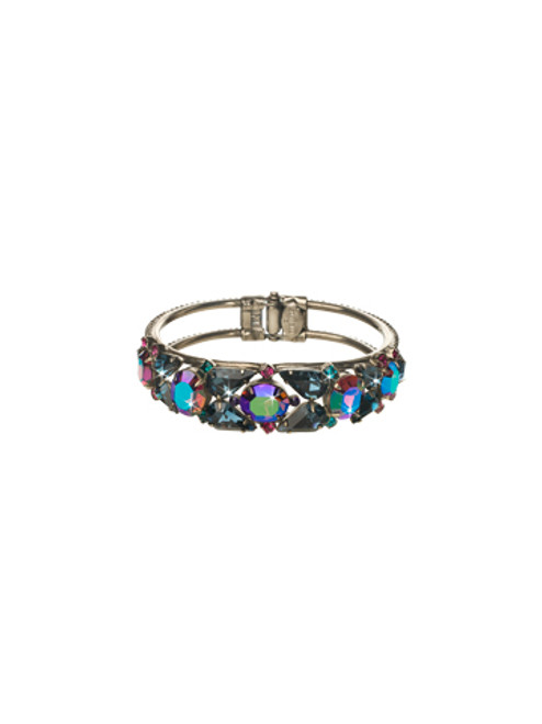 SORRELLI NORTHERN LIGHTS HINGED CUFF CRYSTAL BRACELET- BCP5ASNL
