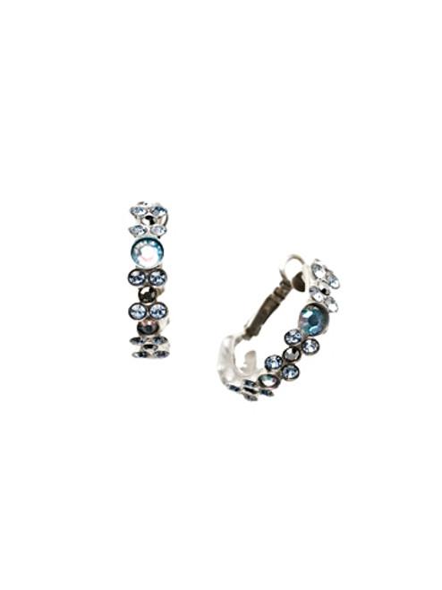 Sorrelli Ice Blue- Floral Hoop Hoop Earrings~ EBP15ASIB