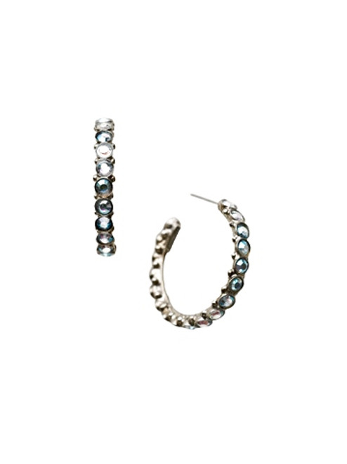 Sorrelli Ice Blue- Heavenly Hoop Earrings~ ECQ24ASIB