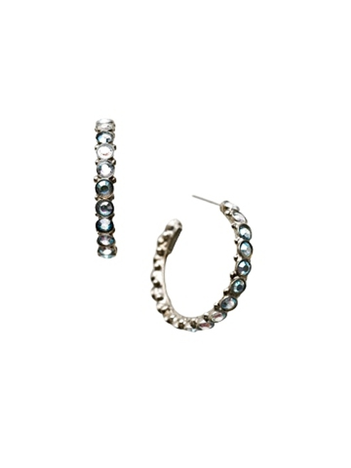 Sorrelli Ice Blue- Heavenly Hoop Earrings~ ECQ24ASIB