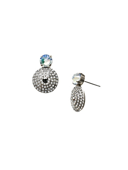 Sorrelli Ice Blue- Pendant Post Earrings~ ECM16ASIB
