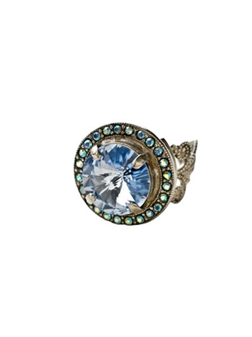 Sorrelli Ice Blue- Bold Bauble Crystal Ring~ RCM5ASIB