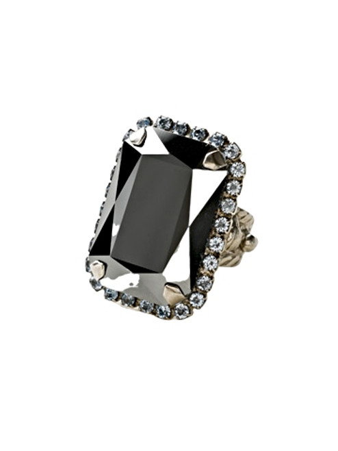 Sorrelli Ice Blue- Luxurious Emerald Cut Cocktail Ring~ RBT69ASIB